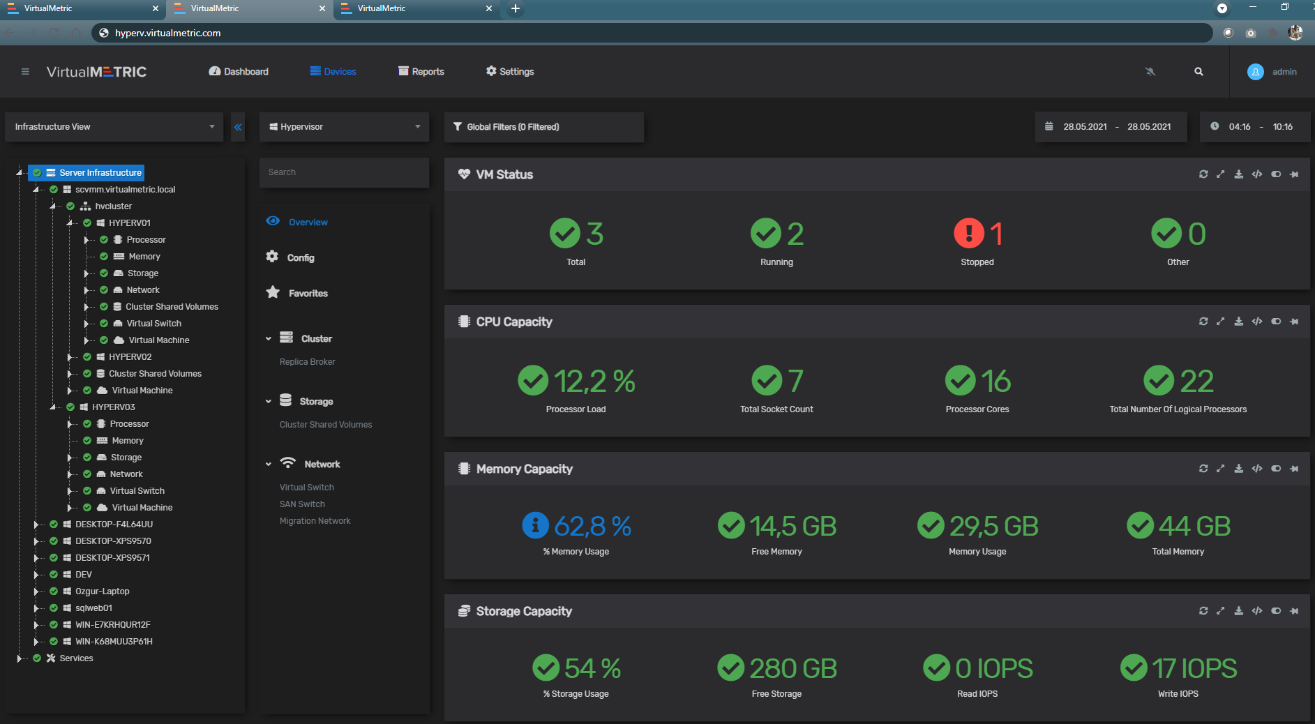 Web-based Hyper-V Monitoring